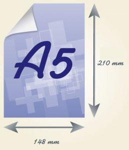 A5 skrajutes formatas